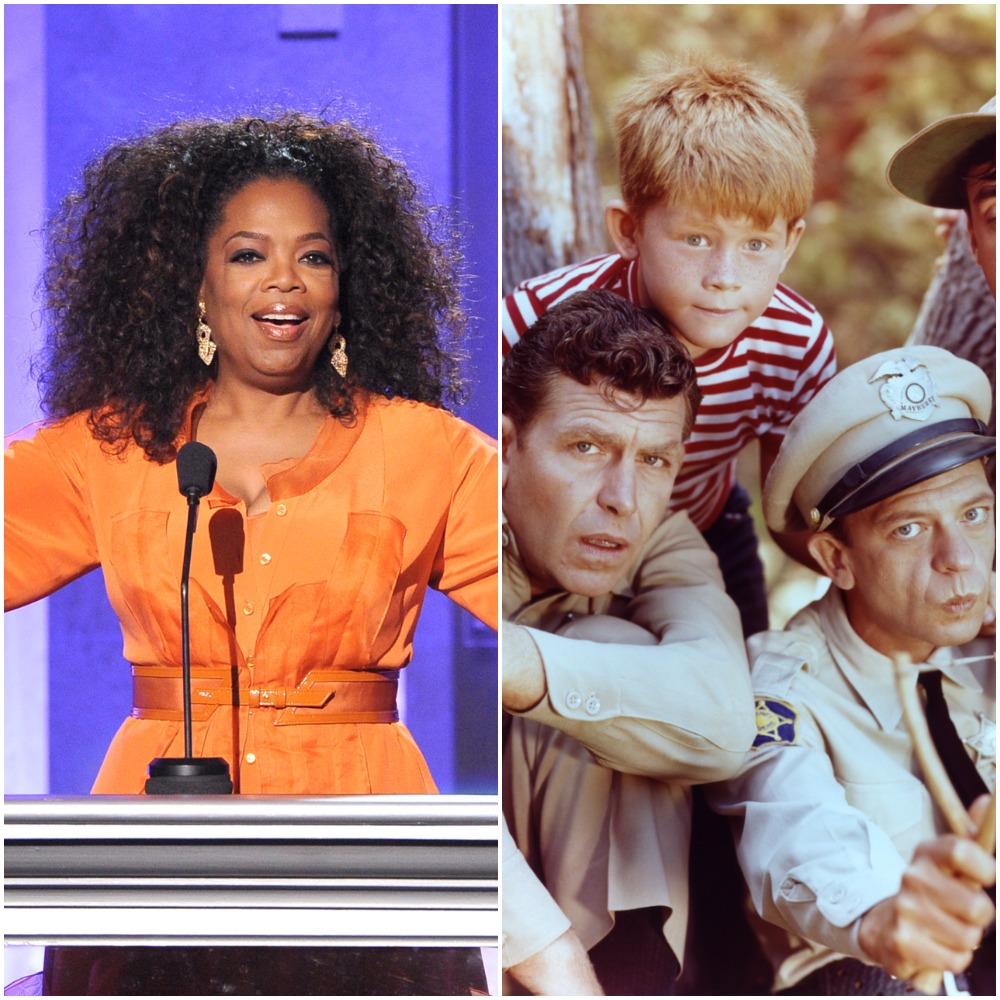 Oprah Winfrey, left and the show 'The Andy Griffith Show'