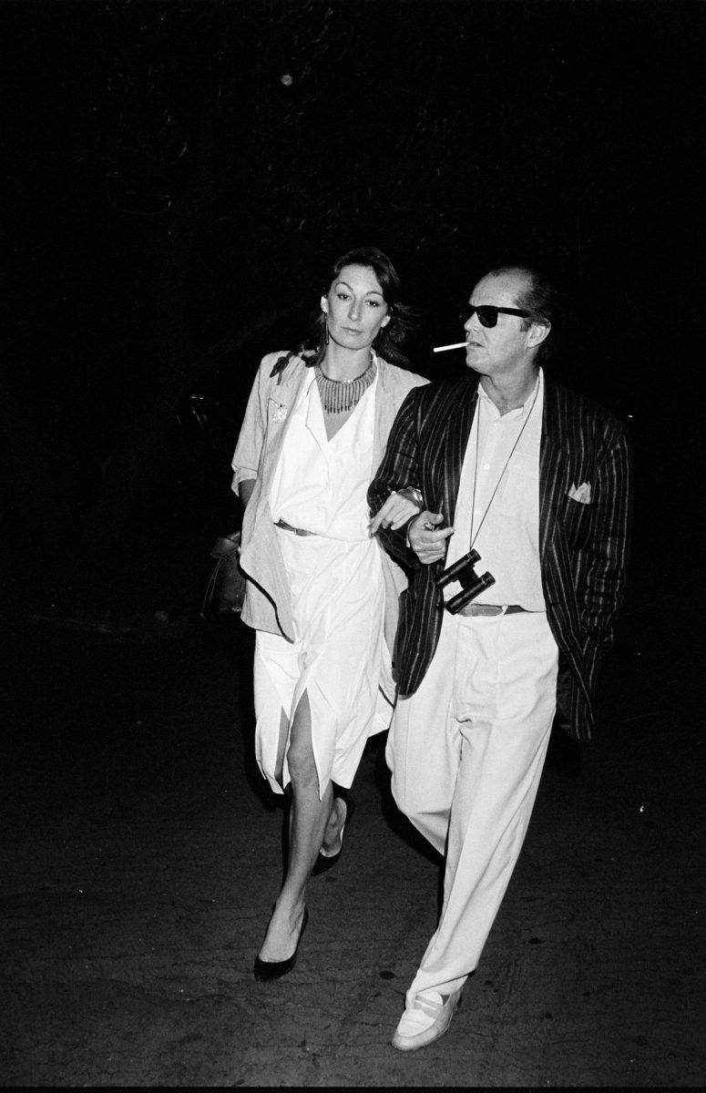 Jack Nicolson and Anjelica Huston