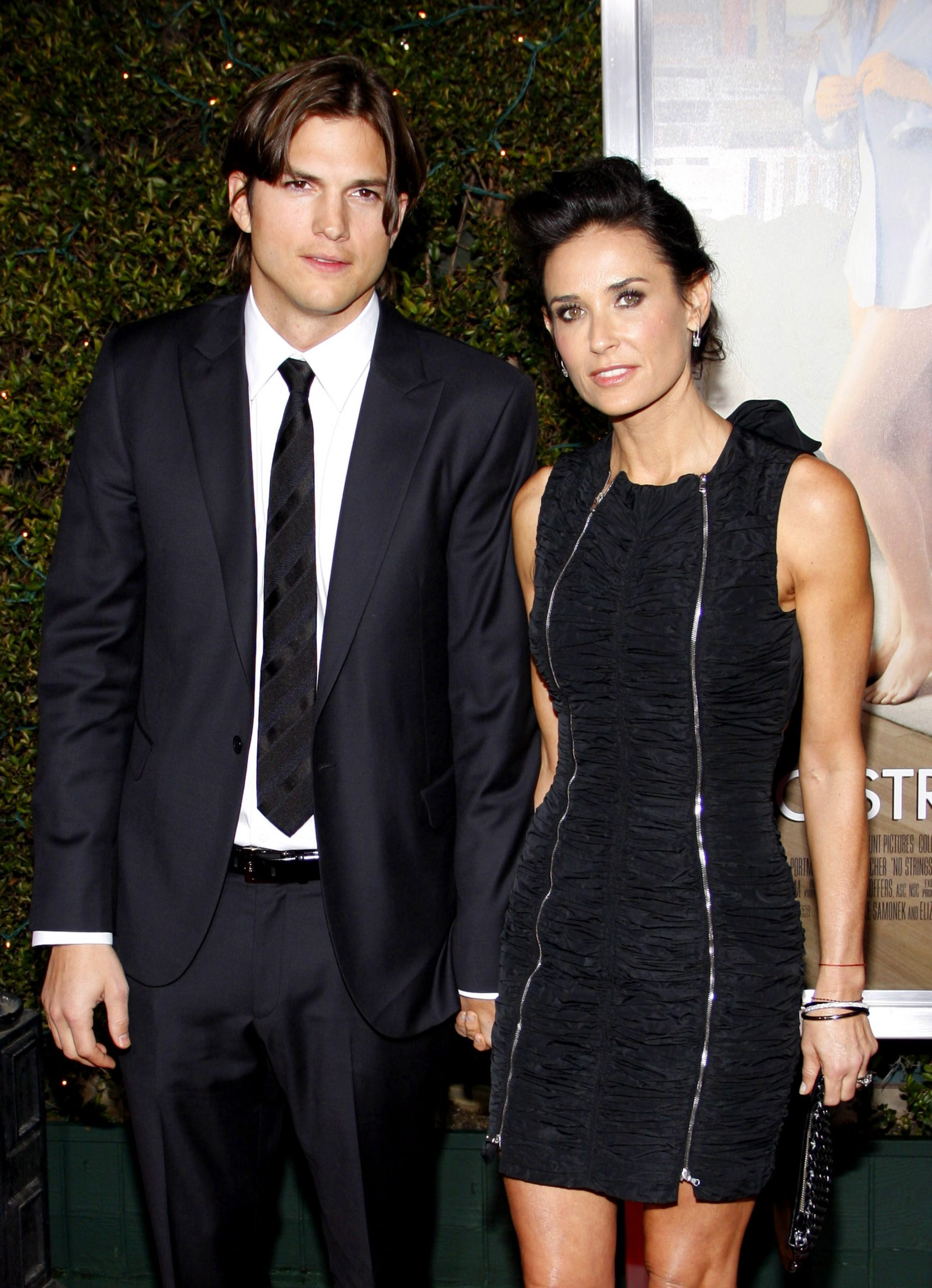 "Ashton Kutcher and Demi Moore at the Los Angeles Premiere of ""No Strings Attached"" held at the Regency Village Theater in Westwood, USA on January 11, 2011."