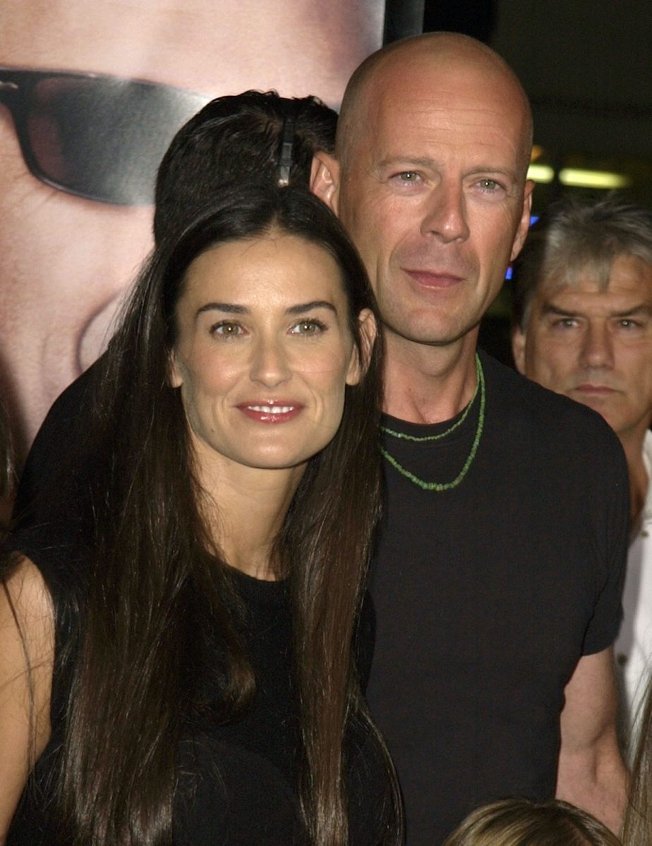 """Demi Moore & Bruce Willis during the Los Angeles Premiere """"Bandits"""""""