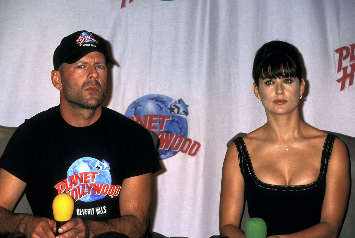 Bruce Willis and Demi Moore in 1995