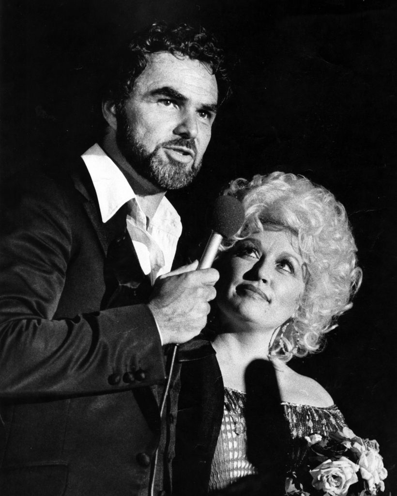 Burt Reynolds and Dolly Parton at the Burt Reynolds Theater on July 15, 1982