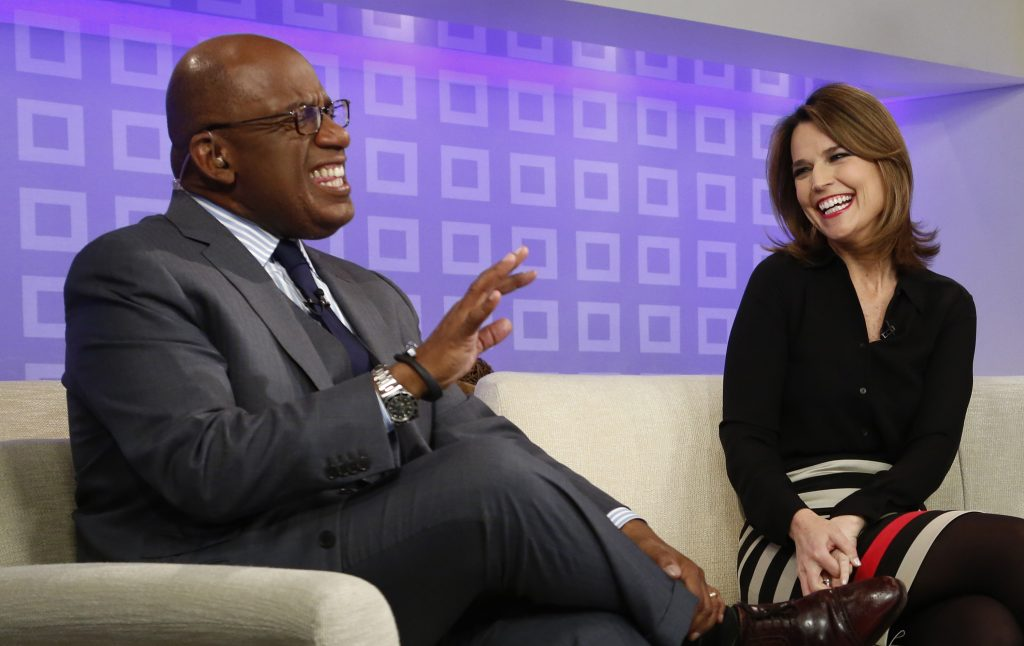 Al Roker, left, and Savannah Guthrie of 'Today'
