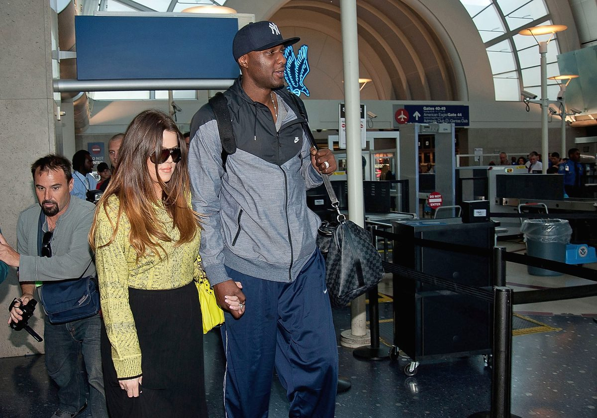 Khloe Kardashian and Lamar Odom will be seen at Los Angeles International Airport on May 04, 2012 in Los Angeles, California.