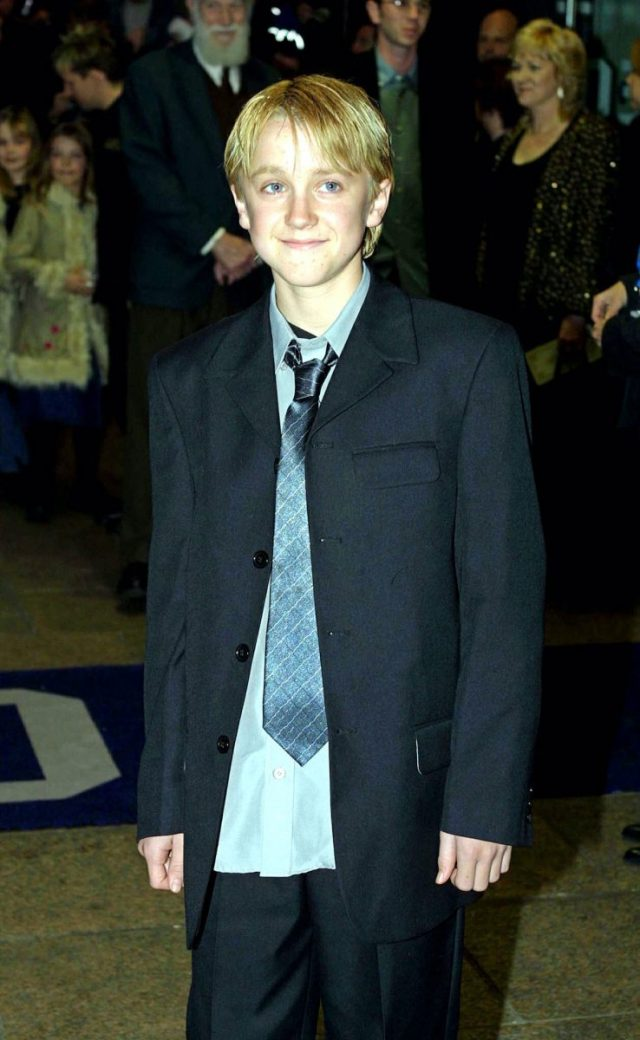 Tom Felton at the premiere of 'Harry Potter and the Sorcerer's Stone'