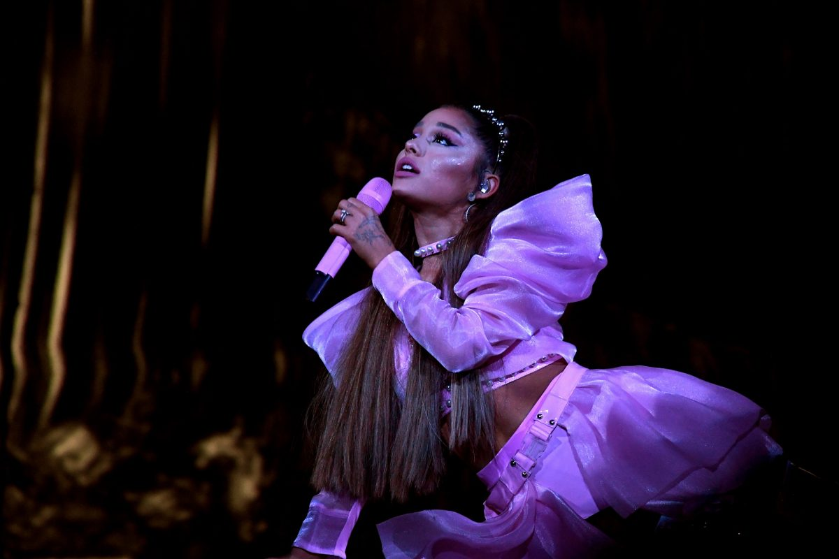 Ariana Grande will be performing on stage during her 'Sweetener World' tour on May 07, 2019, in Los Angeles, California.