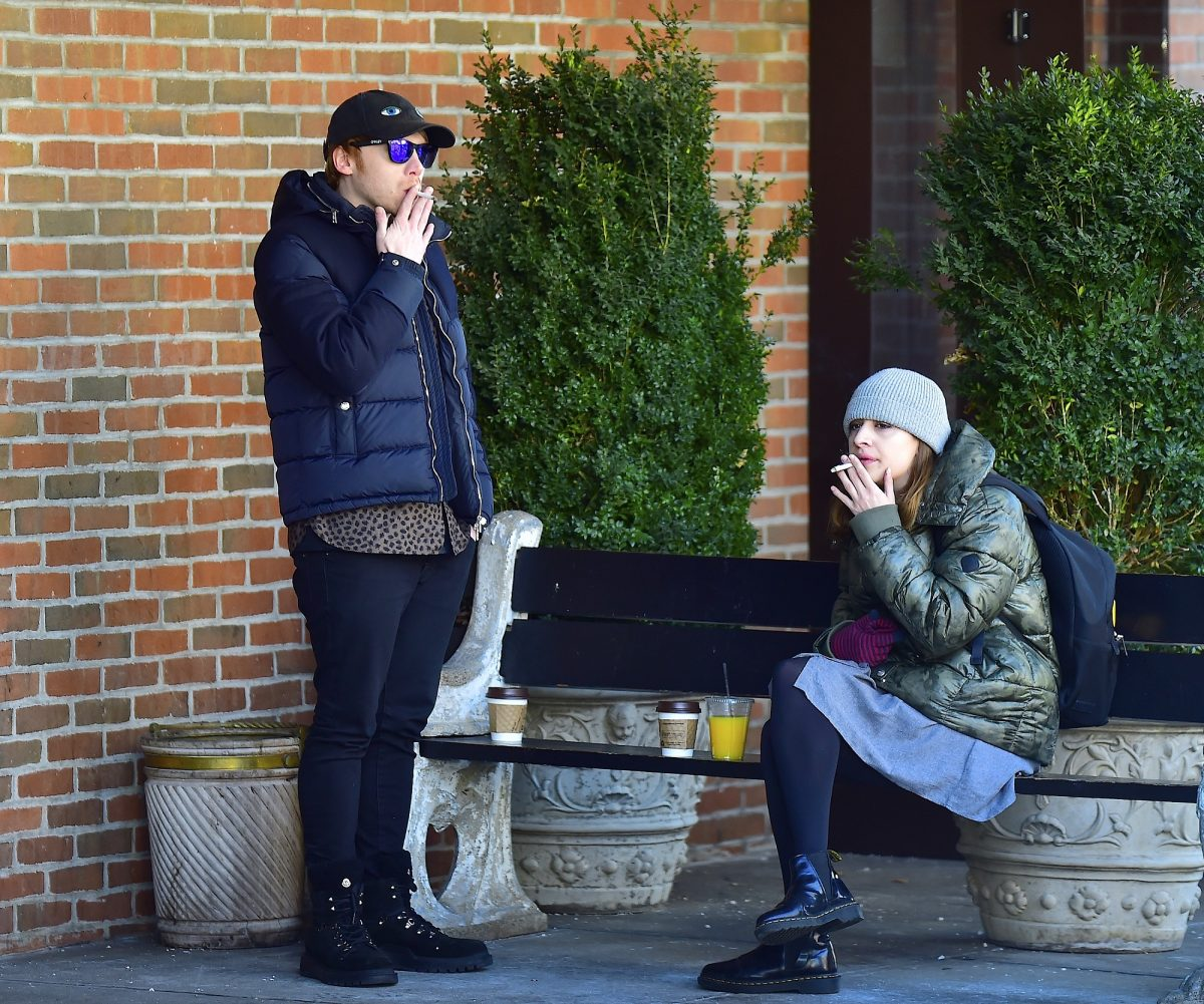 Rupert Grint and Georgia Groome will be seen in Soho on March 17, 2017, in New York City.