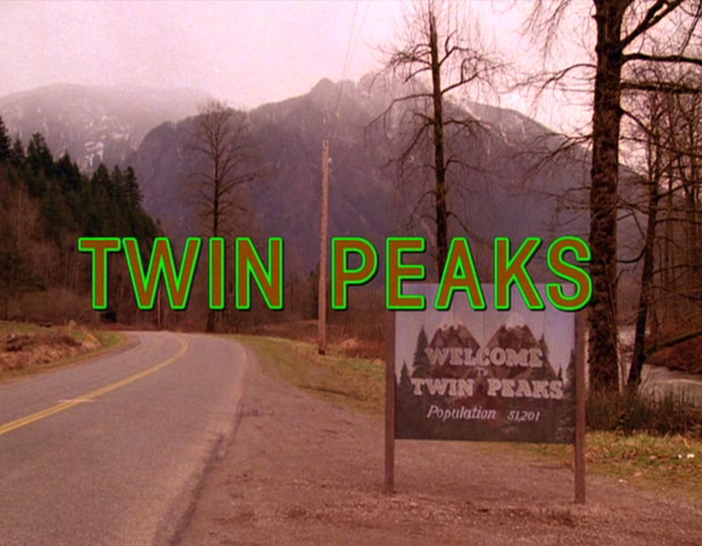 The Twin Peaks sign