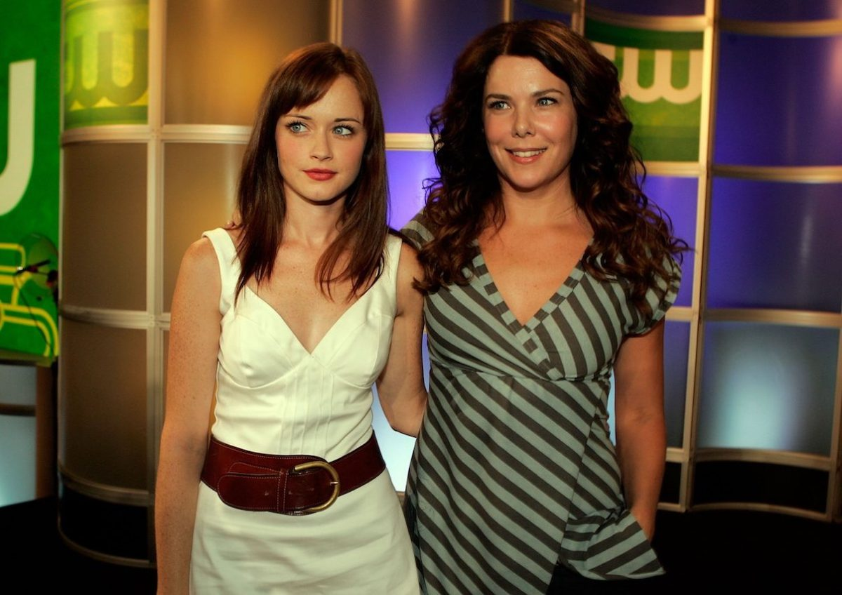 Alexis Bledel and Lauren Graham at the 2006 Summer Television Criticism Association Newsletter for the CW