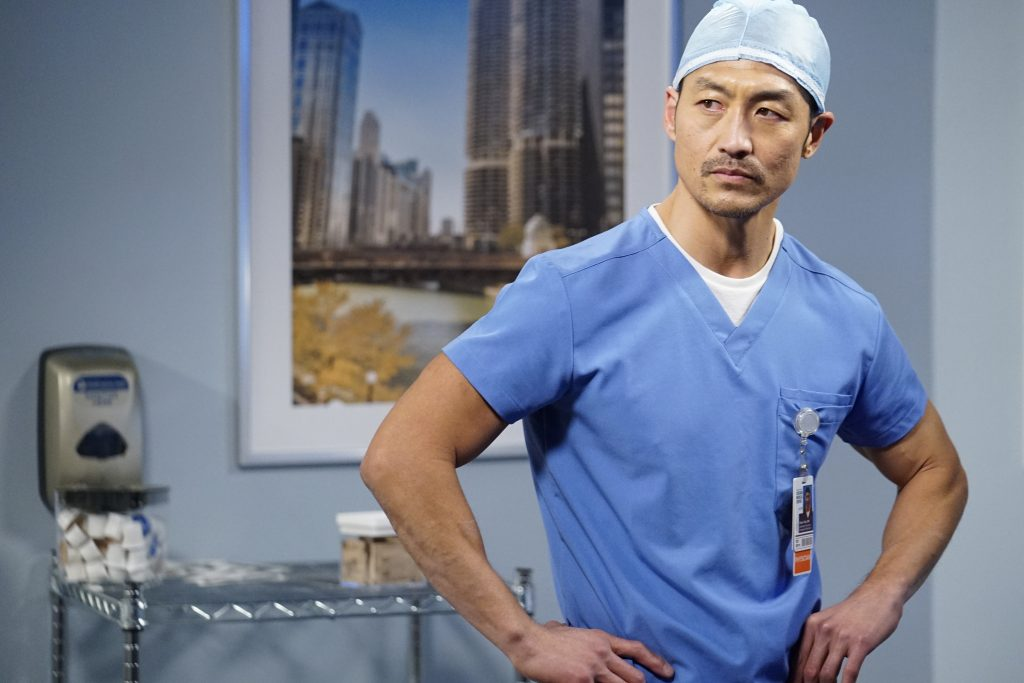 Brian Tee as Ethan Choi on Chicago Med |  Elizabeth Sisson / NBC / NBCU Photo Bank via Getty Images
