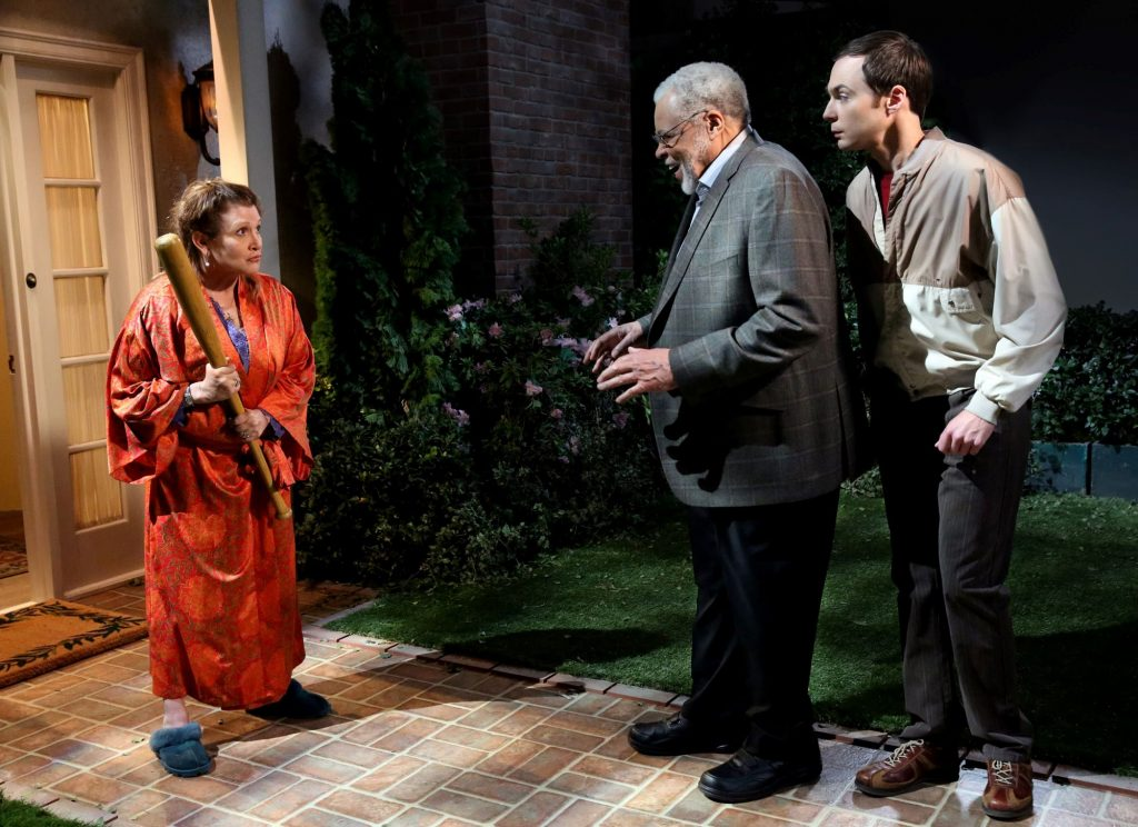 Carrie Fisher, James Earl Jones, and Jim Parsons on 'The Big Bang Theory'