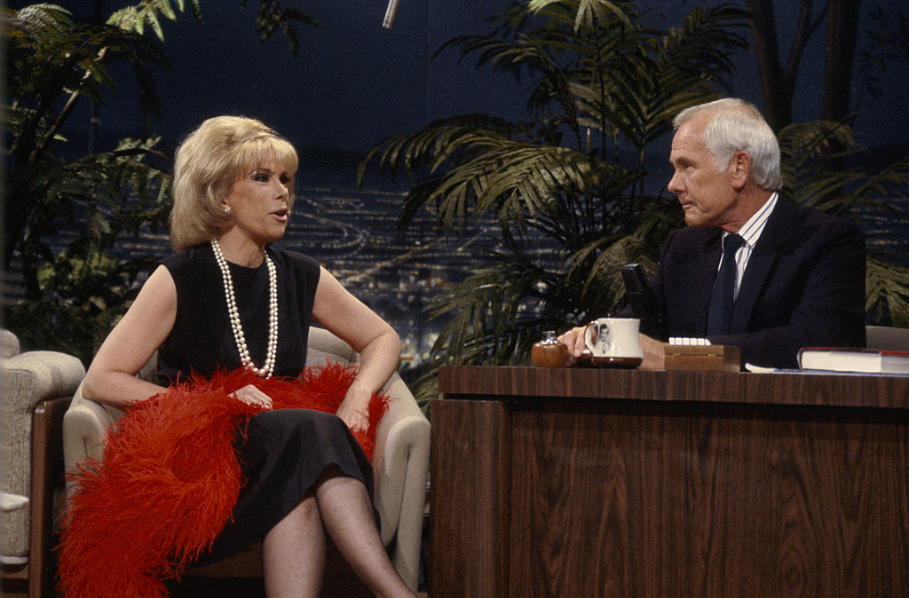 Joan Rivers in an interview with guest Johnny Carson on The 1986 Tonight Show