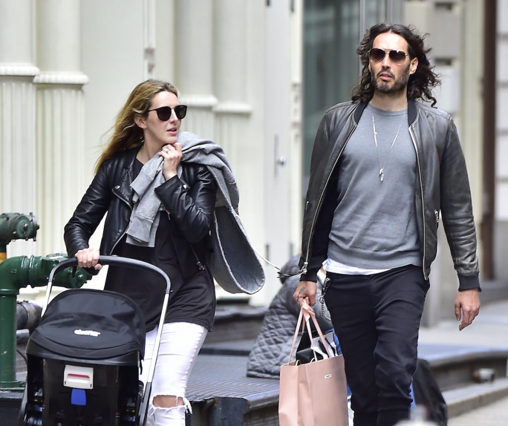 Laura Gallacher and Russell Brand
