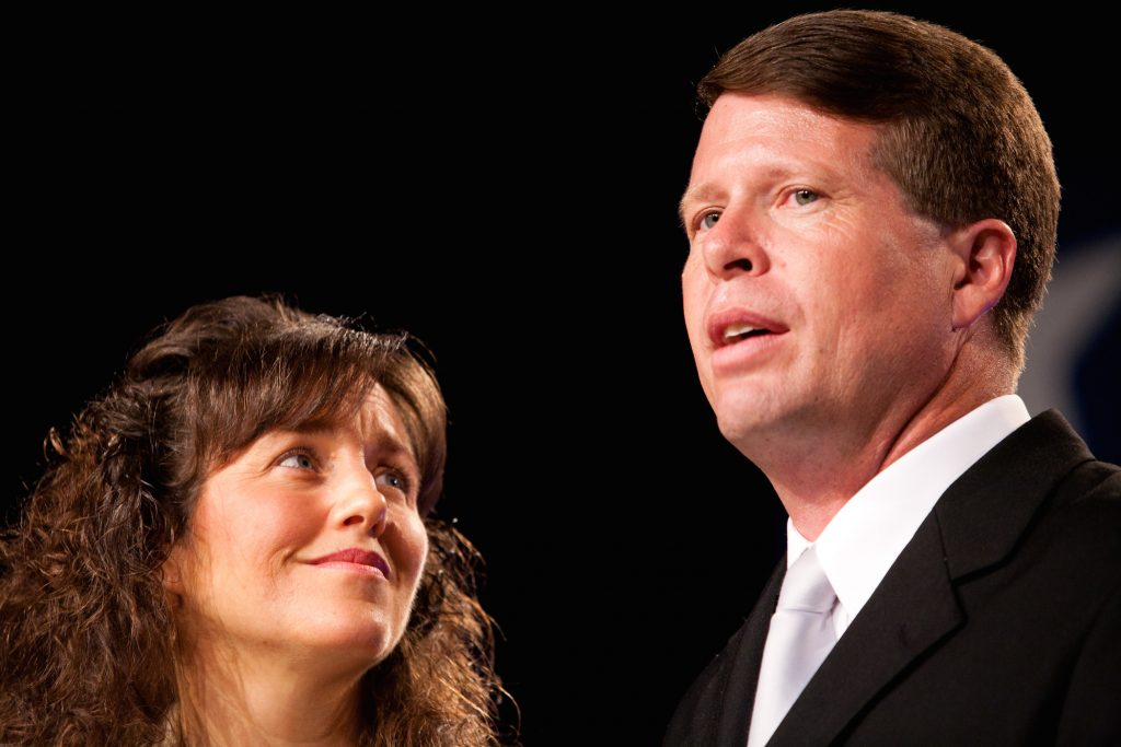 Michelle Duggar (L) and Jim Bob Duggar from 'Counting On' at TLC
