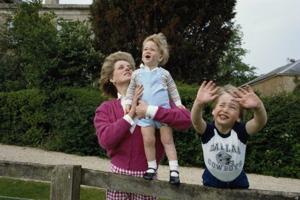 Princess William and Harry with their mother Princess Diana