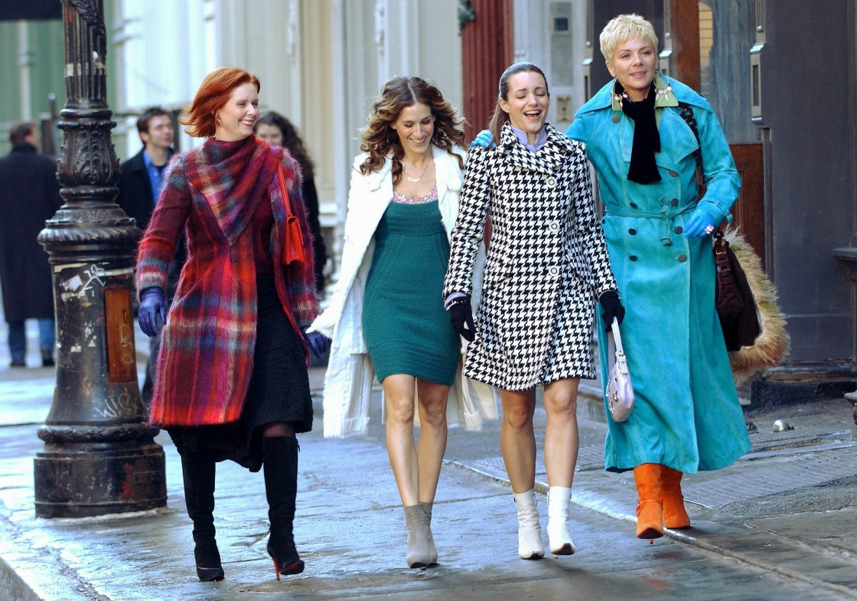Cynthia Nixoxn, Sarah Jessica Parker, Kristin Davis and Kim Cattrall in 'Sex and the City'
