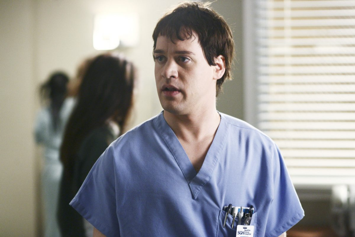 TR Knight as Dr George O'Malley on 'Gray's Anatomy'