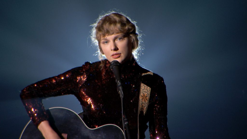 artist Taylor Swift always performs one of her songs, Betty at the ACMAs