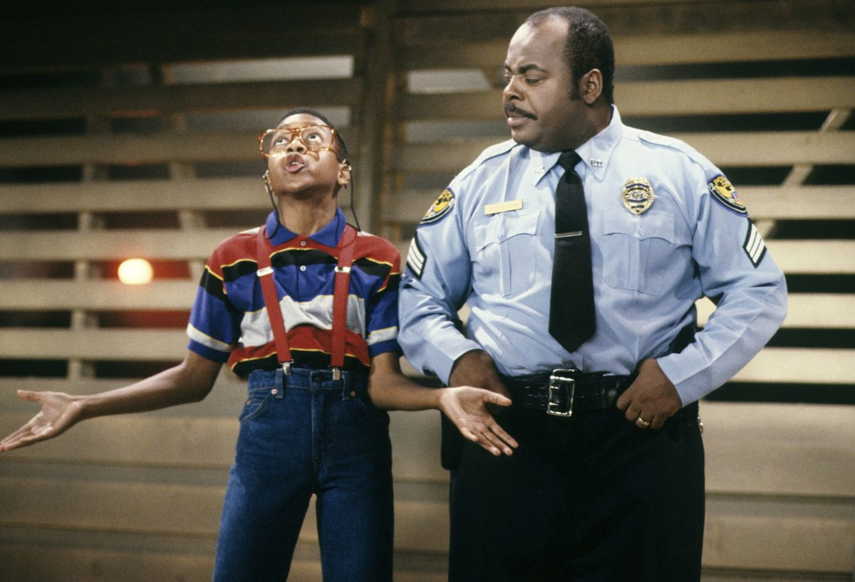 Jaleel White as Steve Urkel and Reginald VelJohnson as Carl Winslow in 'Family Matters'