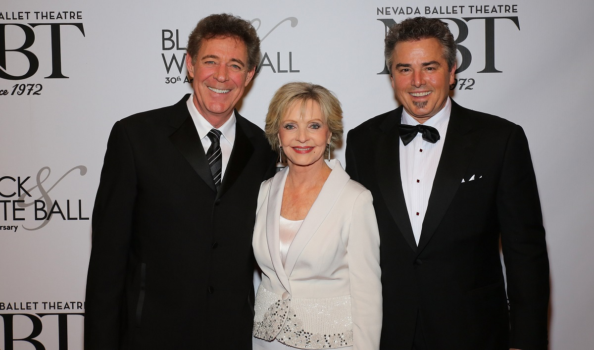 Barry Williams, Florence Henderson, and Christopher Knight in 2014