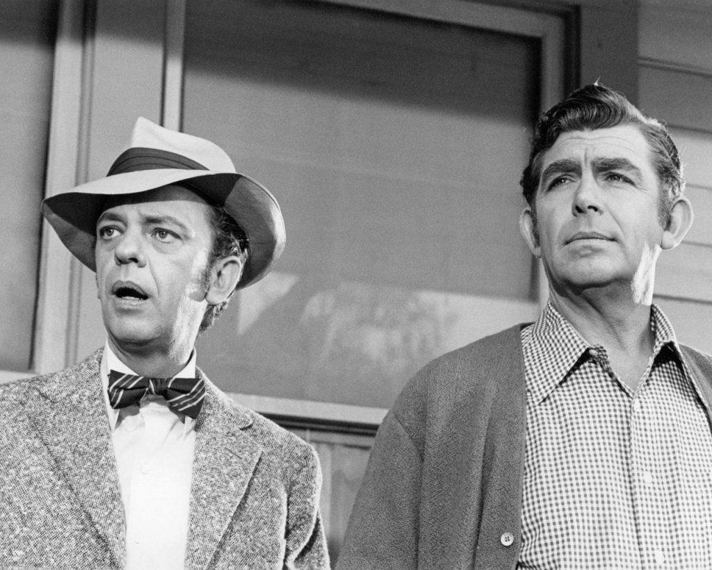 Don Knotts and Andy Griffith on 'The Andy Griffith Show'  Silver Screen / Getty Images Collection