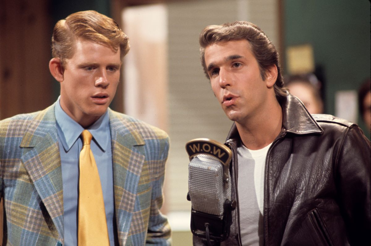 Henry Winkler and Ron Howard