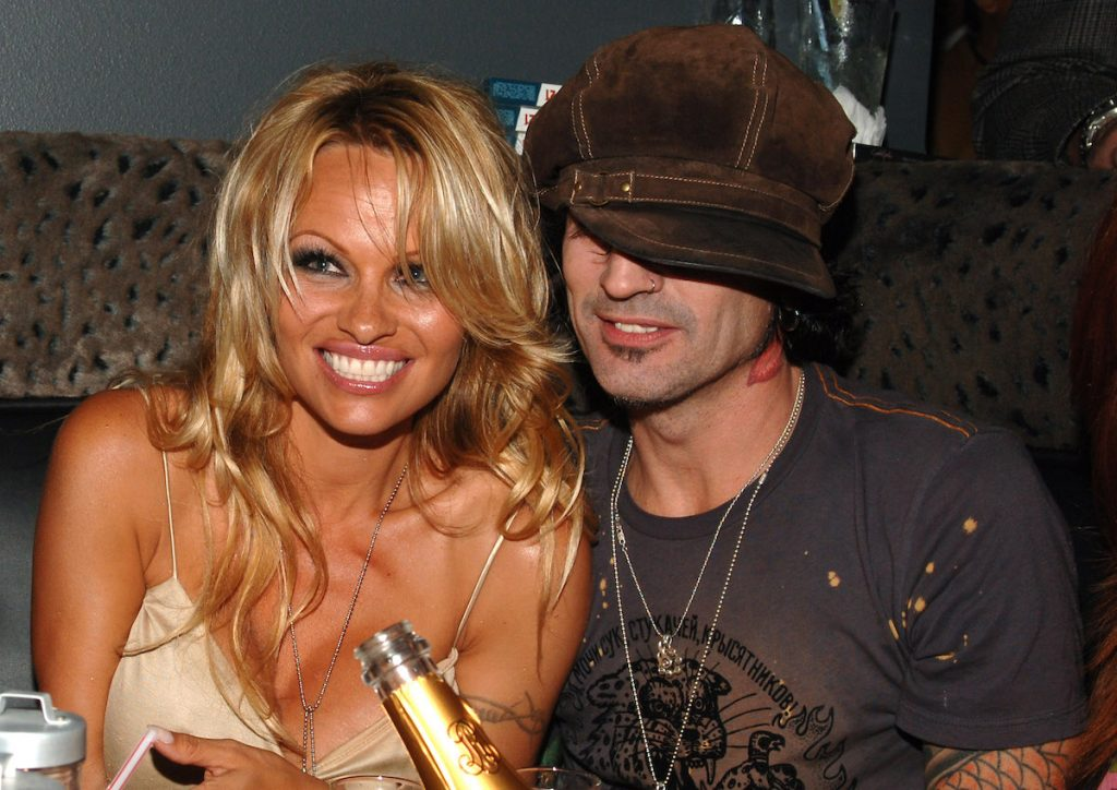 Pamela Anderson and Tommy Lee at the Rokbar Hollywood Grand Rokbar Opening Party in Hollywood, California, USA |  J. Sciulli / WireImage)