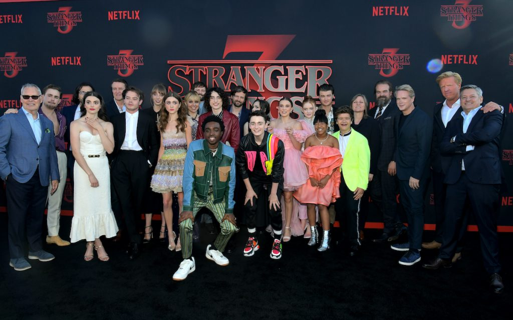 The team and crew of 'Stranger Things'