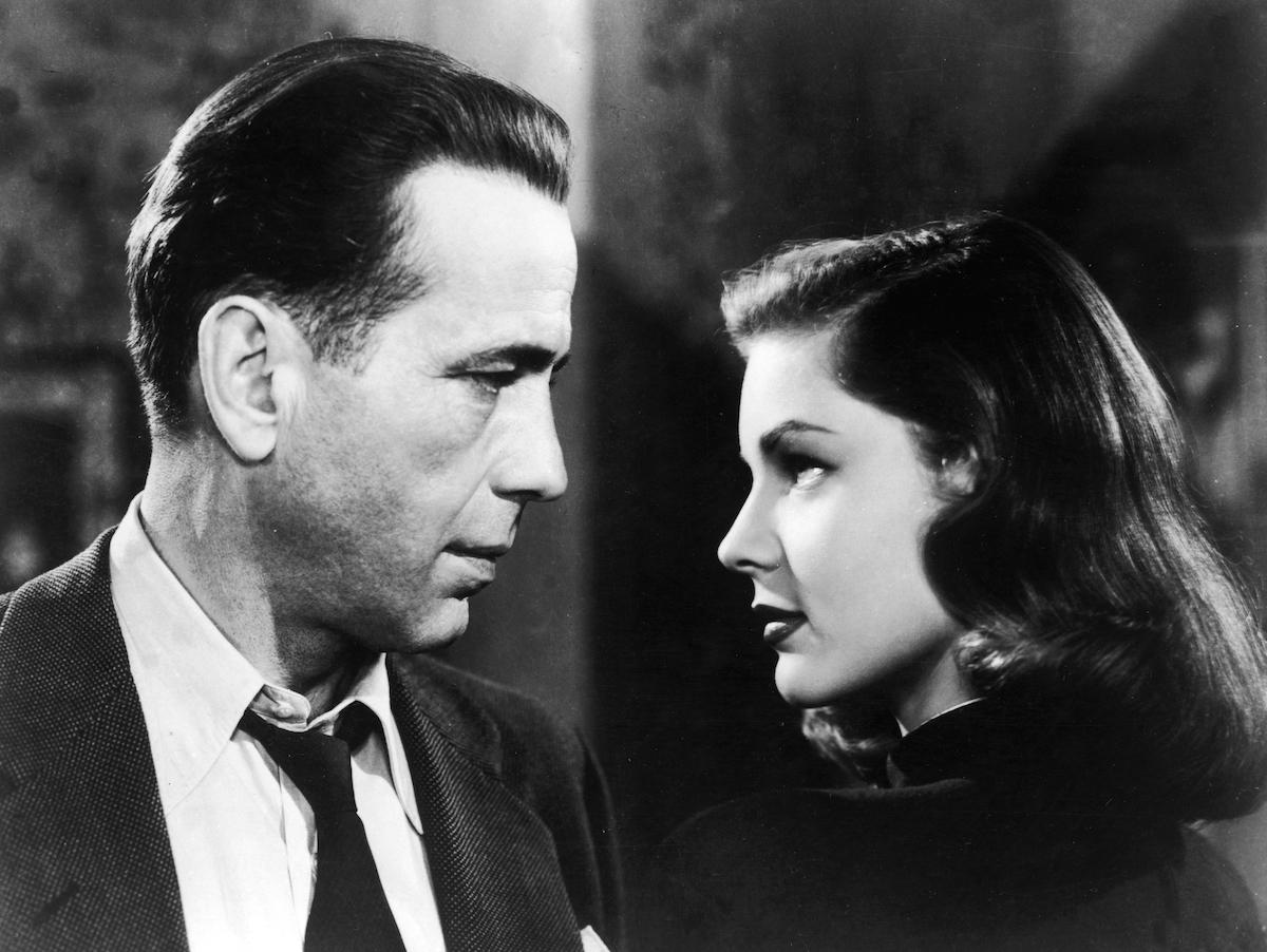 Humphrey Bogart and Lauren Bacall in image