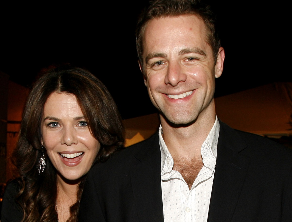 Lauren Graham and David Sutcliffe at the CW Launch Party in Burbank, California.