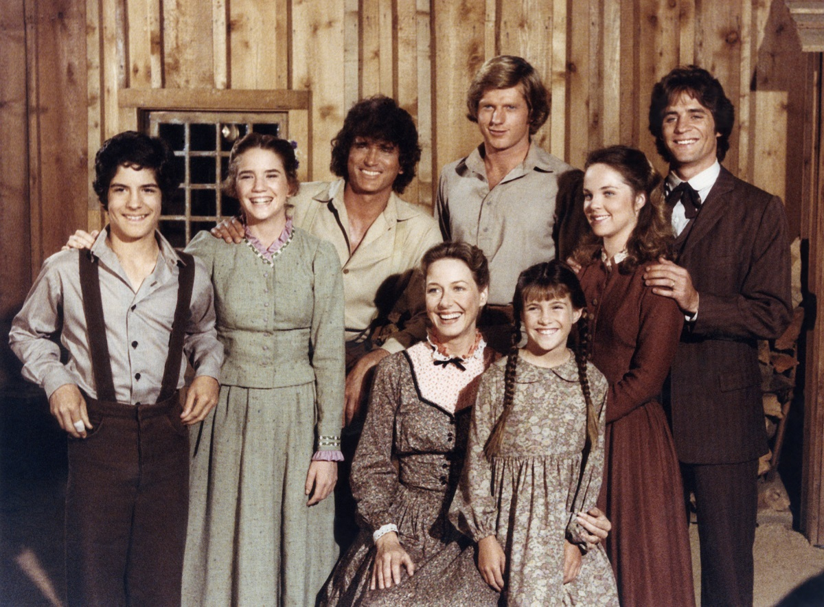 (top lr) Matthew Laborteaux as Albert Quinn Ingalls, Melissa Gilbert as Laura Elizabeth Ingalls Wilder, Michael Landon as Charles Philip Ingalls, Dean Butler as Almanzo James Wilder, Melissa Sue Anderson as Mary Ingalls Kendall, Linwood Boomer as Adam Kendall, (bottom lr ) Karen Grassle as Caroline Quiner Holbrook Ingalls, Lindsay / Sidney Greenbush as Carrie Ingalls of 'Little House on the Prairie' Quarter 7
