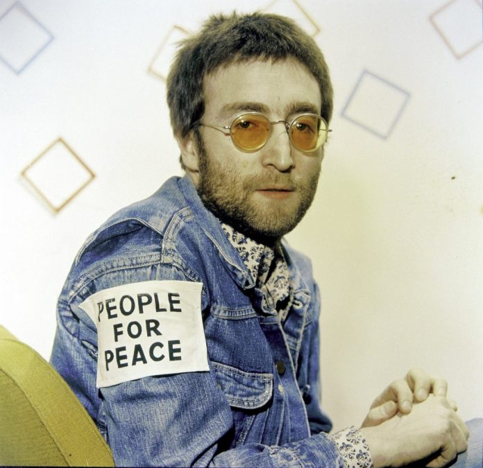 John Lennon wore People for Peace patch
