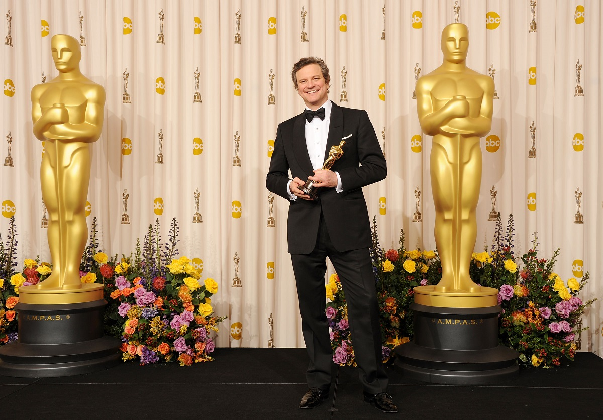 Colin Firth with his Oscar for Best Actor for 'The King's Speech' in 2011