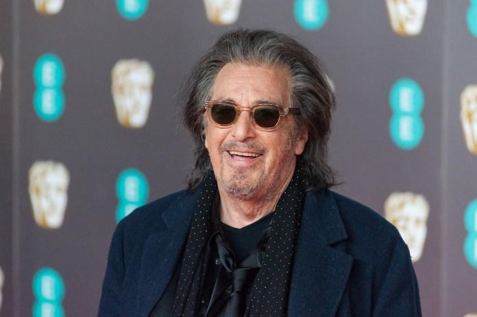Al Pacino on the red carpet in glasses