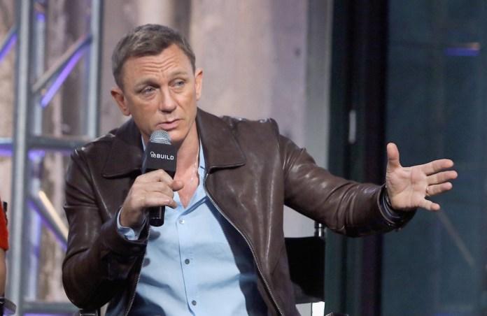 Daniel Craig speaking on stage