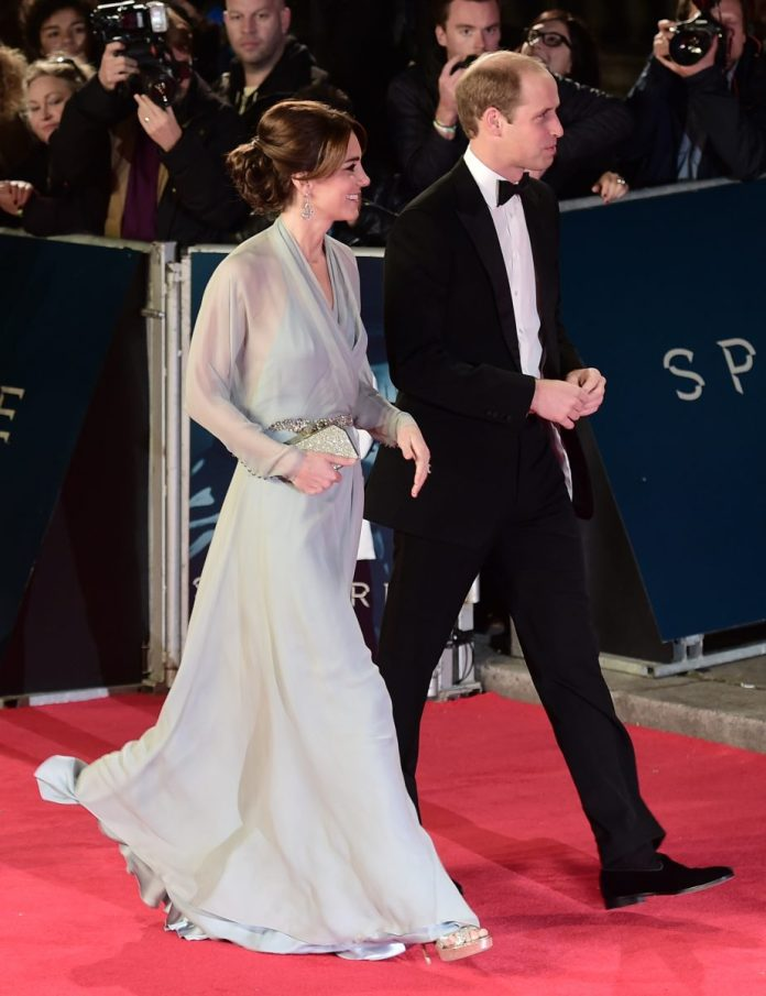 Kate Middleton and Prince William at the premiere of James Bond film 'Spectre'