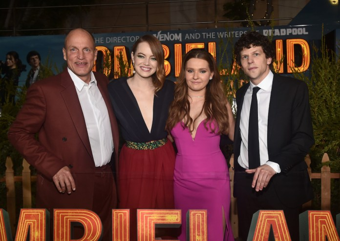 'Zombieland' crew on the red carpet