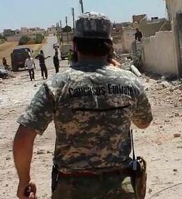 The Caucasus Emirate In Aleppo: At The Scene Of A Barrel Bomb Attack