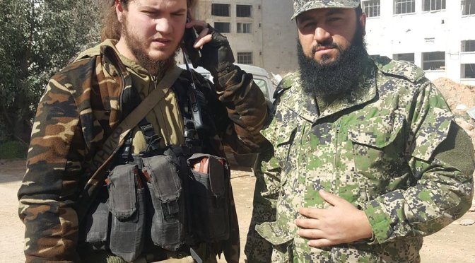 Chechen-led Jaish al-Usrah fighting Kurds in Sheikh Maqsood