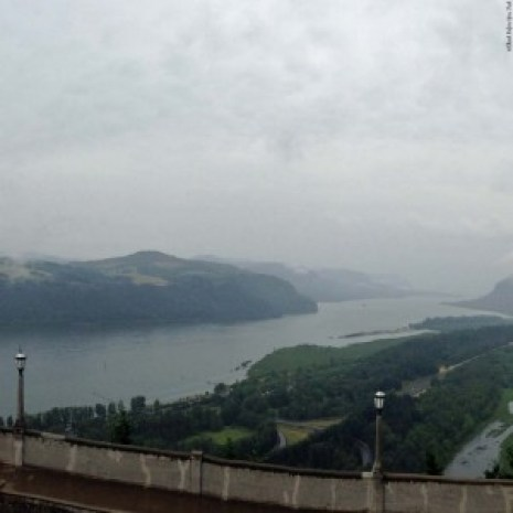 View of the Columbia River from Vista House at Crown Point - Oregon