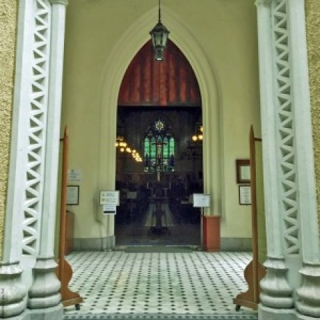 Doorway into St. John's Cathedral - Hong Kong, China