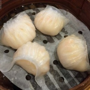 Ha Jiao (steamed fresh shrimp dumplings) at a Tim Ho Wan in Hong Kong, China