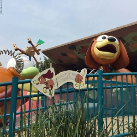 Slinky Dog Spin ride in Toy Story Land - Hong Kong Disneyland, Hong Kong, China