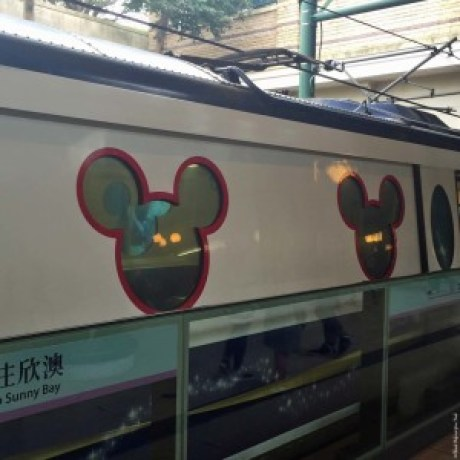 Mickey Mouse ears on the train for the Hong Kong Disneyland Resort Line - Hong Kong, China