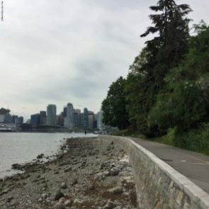 View of Vancouver from Stanley Park trail - Vancouver, British Columbia, Canada