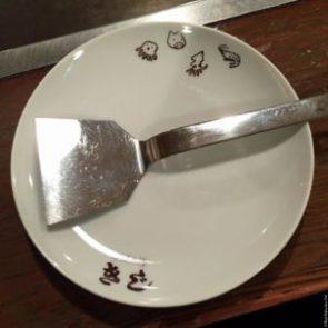 Plate found at Kiji - Osaka, Japan