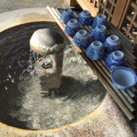 Hot spring drinking water - Kinosaki, Japan