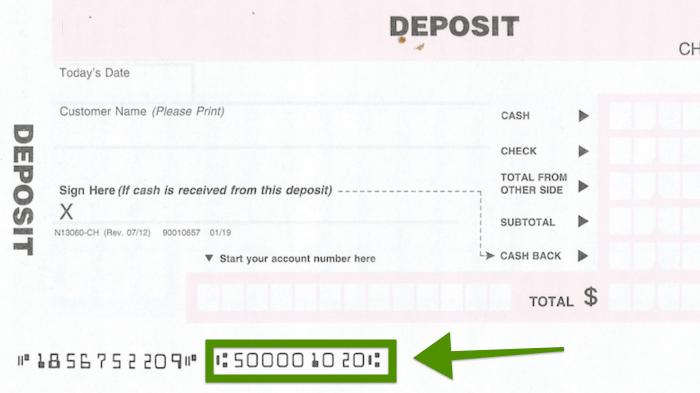 Bank Of America Deposit Slip Free Printable Template Checkdeposit Io