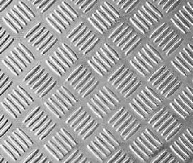 A Piece Of Aluminum Checker Plate