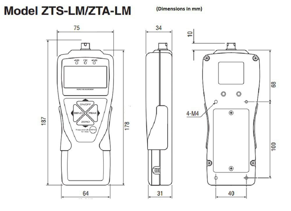 Digital Compression Force Gauge with Button Sensor